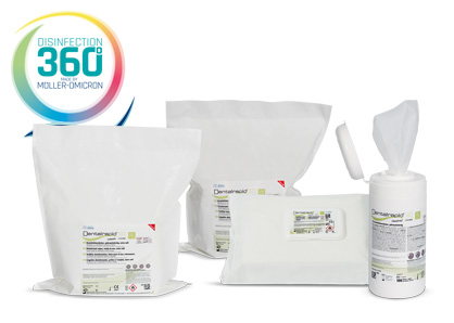 Dentalrapid SD wipes with disinfection 360 degree logo