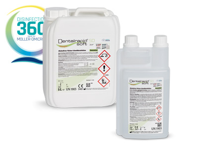 Dentalrapid soft SD pur with disinfection 360 degree logo