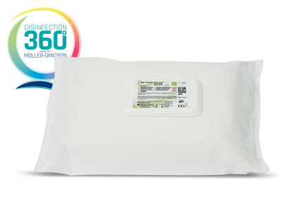 Dentalrapid soft SD wipes with disinfection 360 degree logo