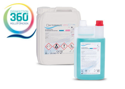 Dentasept Ultra ID pur with disinfection 360 degree logo