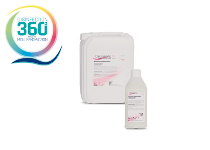 Dermapon sensitive HC lotion with disinfection 360 degree logo