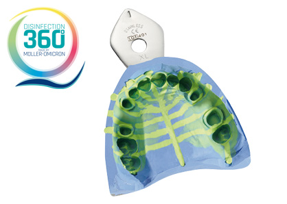 Impression with disinfection 360 ° logo