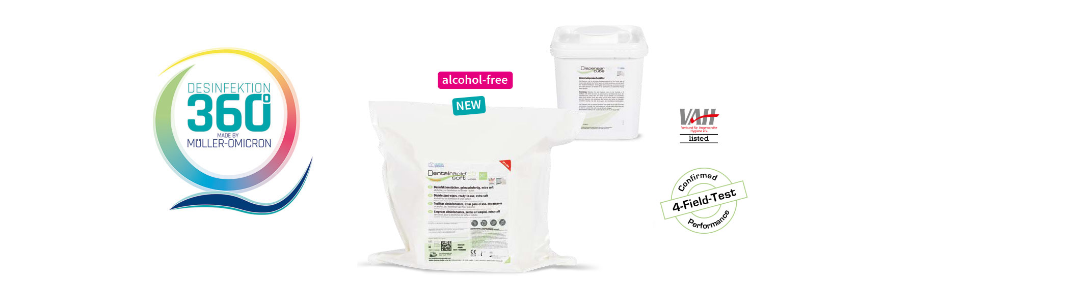 Dentalrapid soft SD wipes